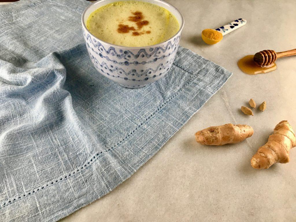 "How to make turmeric coconut latte ""golden milk"""