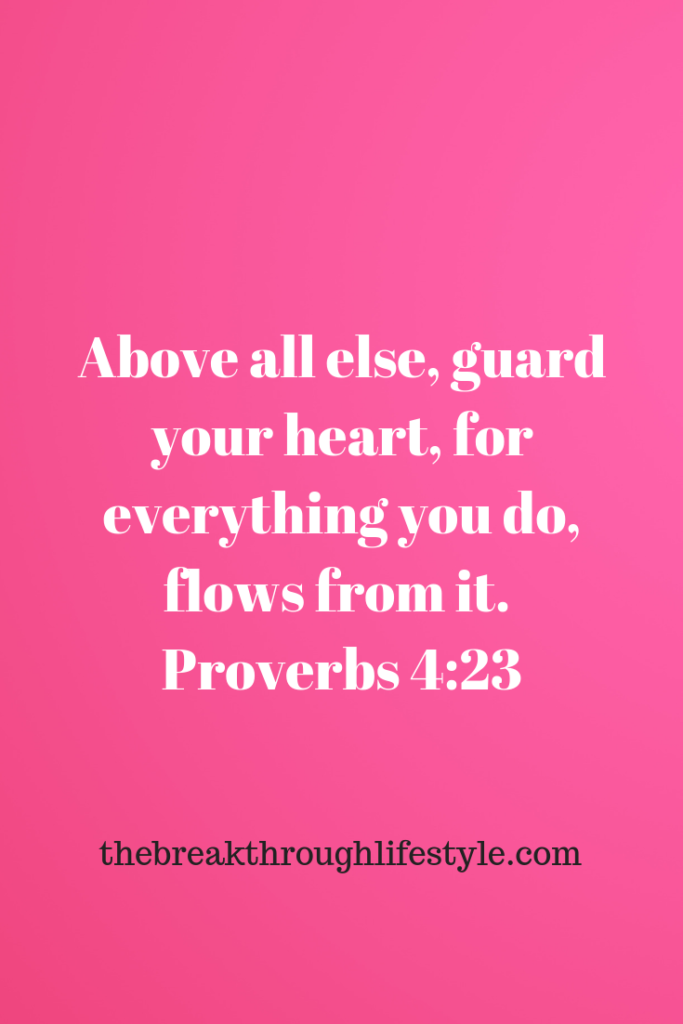guard your heart for out of it flows the issues of life
