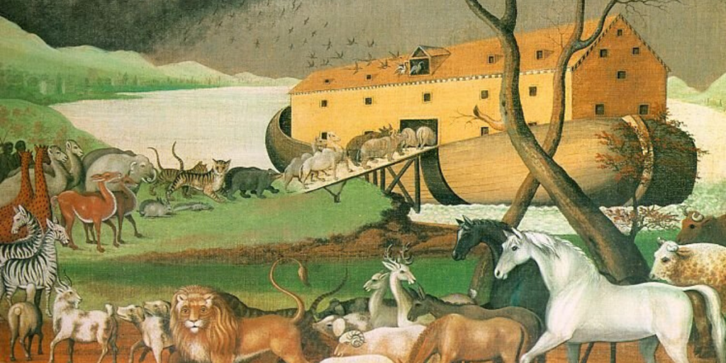 Noah goes into the Ark