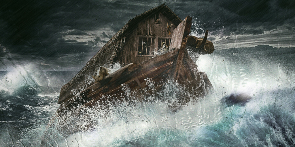 Noah in the flood
